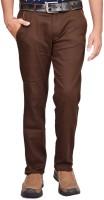 British Terminal Slim Fit Men's Linen Brown Trousers