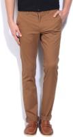 Indian Terrain Slim Fit Men's Brown Trousers