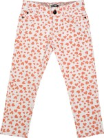 Addyvero Slim Fit Girls Orange Trousers