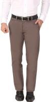 Louppee Comfort Regular Fit Men's Brown Trousers