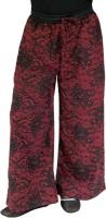 SSMITN Regular Fit Girls Maroon Trousers
