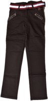 British Terminal Slim Fit Boys Brown Trousers