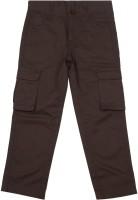People Regular Fit Boys Brown Trousers