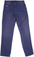 US Polo Kids Slim Fit Boys Blue Trousers