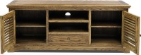 Evok Riviera Solid Wood TV Entertainment Unit(Finish Color - Brown)