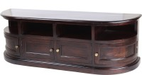 Wood Dekor Solid Wood TV Entertainment Unit(Finish Color - Dark Brown)