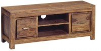 The Attic Solid Wood TV Entertainment Unit(Finish Color - Peppy Red)