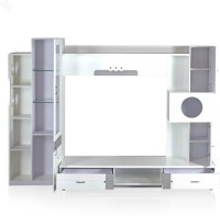 View RoyalOak Aster Engineered Wood TV Entertainment Unit(Finish Color - White) Price Online(RoyalOak)