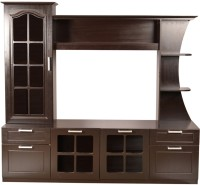 HomeTown Mandrin Wallunit Engineered Wood TV Entertainment Unit(Finish Color - Wenge)