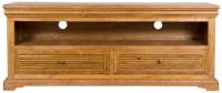 HomeTown Solid Wood TV Entertainment Unit(Finish Color - Brown Oak)