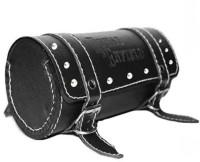 MR Trading One-side Black Leatherette Motorbike Saddlebag(12 L)