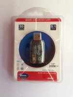 Quantum QHM623 USB Sound Card (pack of 5) USB Adapter(Black)