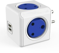 Shrih SH - 0719 Portable 4 Way And 2 Ports USB Adapter(White Blue)