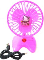 View DCS Mini fan for kids with USB supported power cable Pink USB Fan(Pink) Laptop Accessories Price Online(DCS)