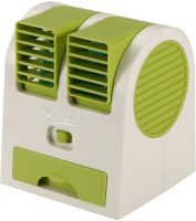 View Quit-X VBX-01 ™ Mini Air Conditioner Dormitory™ Power Cooling Portable Cooler USB Fan(Green) Laptop Accessories Price Online(Quit-X)