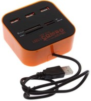VU4 Combo Card Reader High Speed USB Hub(Orange)