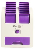 Octain Dual bladeless mini cooler Easy chargeable OTN 032 USB Fan(White, Purple)