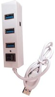 View Ad Net AD-HB_4-816 816 USB Hub(White, Black) Laptop Accessories Price Online(Ad Net)