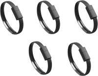 View Saihan 5 pks of Bracelet SHN 5 pk WB USB Charger(Black) Laptop Accessories Price Online(Saihan)