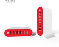 View Fshang 6 Port Universal Connector 7004 USB Hub(Red) Laptop Accessories Price Online(Fshang)