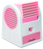 View DIZIONARIO Mini Desktop Bladeless Air Conditioner USB Fancoolerpi USB Fan(Pink) Laptop Accessories Price Online(DIZIONARIO)