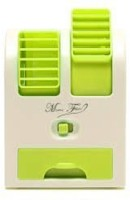 Octain Dual bladeless mini cooler Easy chargeable OTN 032 USB Fan(White, Green)