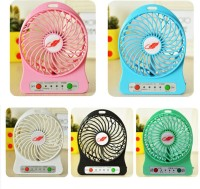 View Shopimoz Rechargeable UPF-110 (Assorted) USB Fan(Multicolor) Laptop Accessories Price Online(Shopimoz)