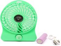 Octain High Speed Wireless Rechargeable Mini Fan OTN 031 USB Fan(Green)