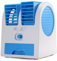 Octain Dual bladeless mini cooler Easy chargeble OTN 032 USB Fan(White, Blue)