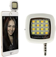 View Giftico Flash light selfie 2016 Hot sale Mini Universal Night Using Enhancing camera Fill-in LED Flash light selfie Led Light(BLACK) Laptop Accessories Price Online(Giftico)