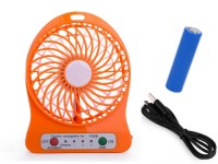 View BLOSSOM TRENDZ High Speed Wireless Rechargeable (USB Charging & 2200 mAH Battery) Wireless Rechargeable Mini USB Fan(Orange) Laptop Accessories Price Online(BLOSSOM TRENDZ)