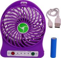 Sunnex Mini Portable Rechargeable S 1 MF USB Fan(Purple)