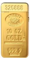 Smiledrive Gold Bar Shaped Flameless Gold-Bar07 Cigarette Lighter(Gold)