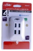 View Ad Net AD-HD-4-81F 81F USB Hub(White) Laptop Accessories Price Online(Ad Net)