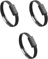 Saihan 3 Packs of Bracelet SHN 3 pk WB USB Charger(Black)