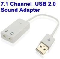 iConnect World Sound 7.1 Channel Hi Speed Audio Card Adapter Sound Card(White)