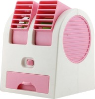 View DIZIONARIO Mini Perfume Chilling AC Dual Rotating Face Fan AC-P USB Fan(Pink) Laptop Accessories Price Online(DIZIONARIO)