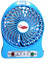 View Shopimoz Rechargeable UPF-108 USB Fan(Blue) Laptop Accessories Price Online(Shopimoz)