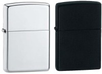 View Shine Earth Black & Silver Pack of 2 Cigarette Lighter(Black & Silver) Laptop Accessories Price Online(Shine)