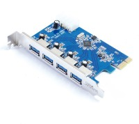 QuantumZERO USB 3.0 4-Port PCIE Card QZ-PE04 Expansion Card(Blue)