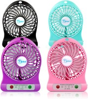 View Galexy Portable, Battery Operated Powerful Rechargeable USB Fan(Pink, Purple, Green, Black) Laptop Accessories Price Online(Galexy)
