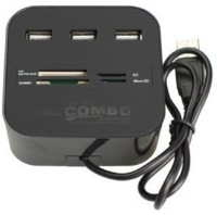 View Smacc HIGH QUALITY ALL IN ONE COMBO CARD READER WITH 3 PORT USB Hub(Multicolor) Laptop Accessories Price Online(Smacc)