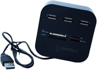 View Hub High Speed All in One USB 2.0 with 3 Ports Hub Memory Card Reader Combo USB Hub(Black) Laptop Accessories Price Online(Hub)