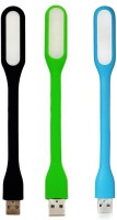 View Wowobjects Black,Green,Blue Led Light(Black, Green, Blue) Laptop Accessories Price Online(Wowobjects)