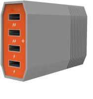 Shrih 4 Ports Fast Charging SH - 0708 USB Hub(Orange Grey)