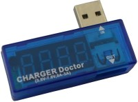 View Singtronics Voltage current tester meter Power Charging Doctor USB Hub(Blue) Laptop Accessories Price Online(Singtronics)