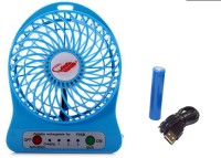 View BLOSSOM TRENDZ Blue High Speed Wireless Rechargeable Mini Fan (USB Charging & 2200 mAH Battery) s11-12 USB Fan(blue) Laptop Accessories Price Online(BLOSSOM TRENDZ)