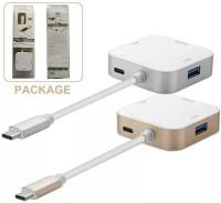 View EWOKIt HDMI Hub HDMI01 Laptop Accessory, HDMI Connector, USB Hub(White, Gold, Grey) Laptop Accessories Price Online(EWOKIT)