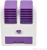 VibeX VBX-01 ®Adjustable Dual Air Outlet Mini Electric Air Conditioning™ Portable Cooler USB Fan(Purple)