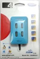 View Quantum QHM 6633 qhm6633 USB Hub(Blue) Laptop Accessories Price Online(Quantum)